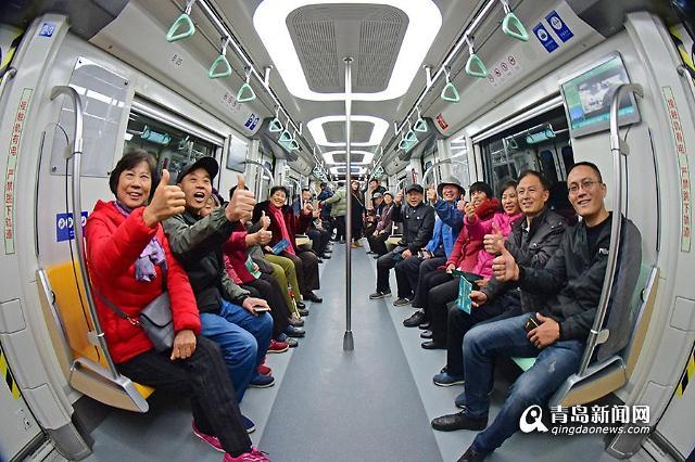 [중국포토] 산둥성 최장 노선 ...칭다오 지하철 13호선 개통