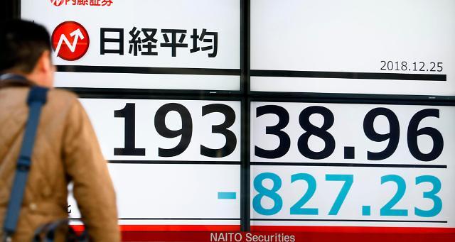 일본·중국 증시 블랙 크리스마스 줄줄이 급락