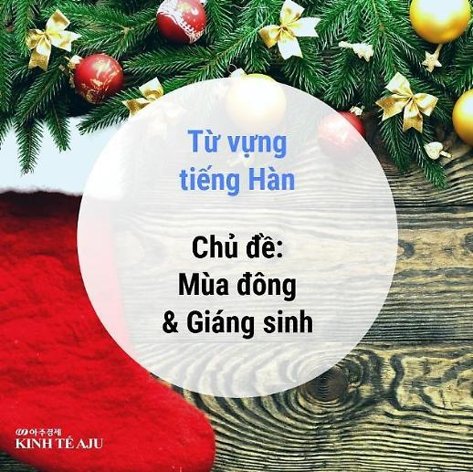 Từ vựng tiếng Hàn chủ đề Giáng sinh và Mùa đông