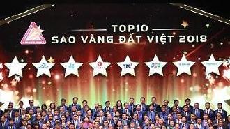 Việt Nam vinh danh 200 thương hiệu nhận Giải thưởng Sao Vàng Đất Việt 2018