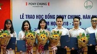 30 sinh viên xuất sắc của Việt Nam được nhận học bổng Pony Chung, Hàn Quốc