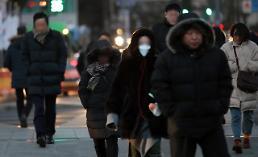 .韩国遭遇最强寒潮 首尔体感温度零下19.3度.
