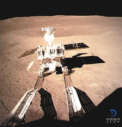 중국 창어4호 탐사로봇 달 뒷면 탐사 시작...착륙 사진 대공개