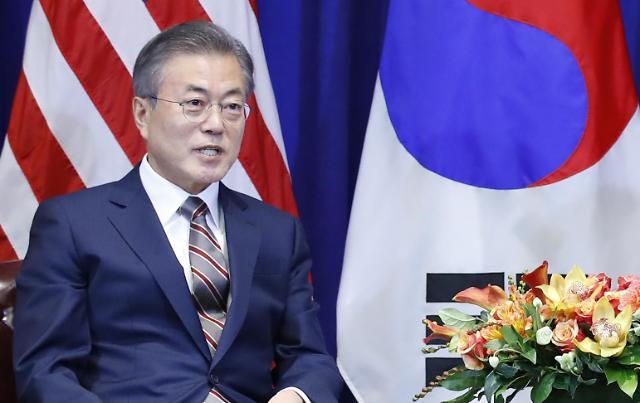 韩总统文在寅10日举行新年记者会