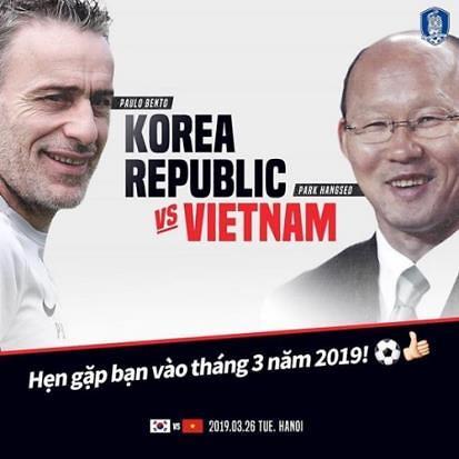 벤투호 vs 박항서호, 3월 베트남서 '운명의 맞대결' 확정