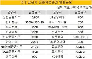 [단독] 신종자본증권의 배신···금융사 6.5조 부채 폭탄 맞나