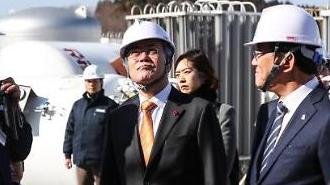 [포토] 문재인 대통령 울산 수소공장 방문