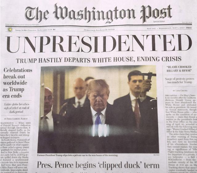 트럼프 사임했다?, 美 워싱턴 뒤흔든 '가짜뉴스' 정체는