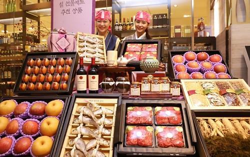 韩国人忙着置办春节礼物 精肉及健康食品热销