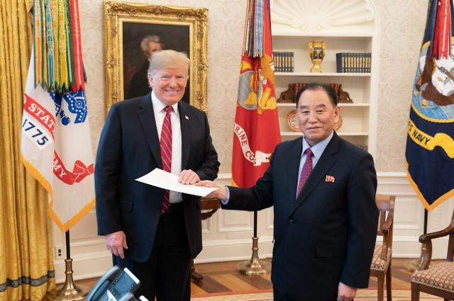 特朗普接收金正恩亲笔信