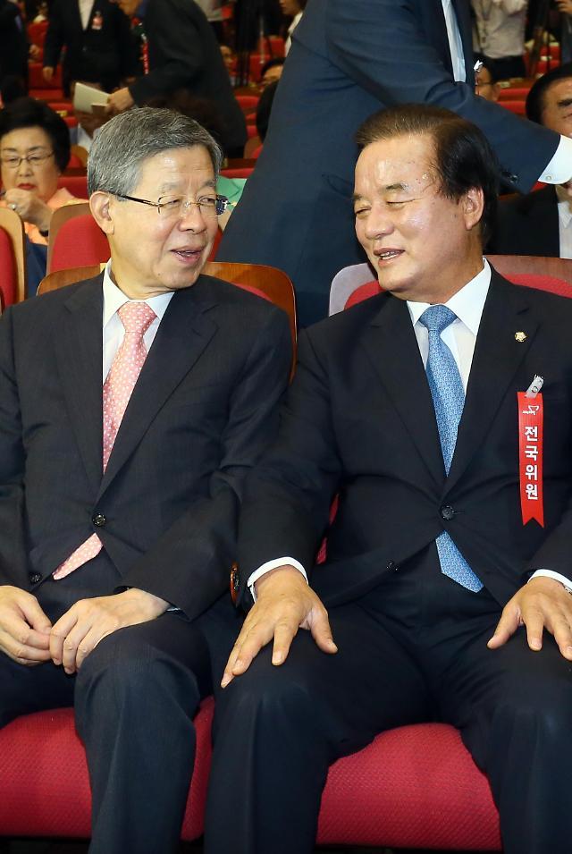 한국당 전당대회 선관위원장에 박관용…준비위원장 정갑윤