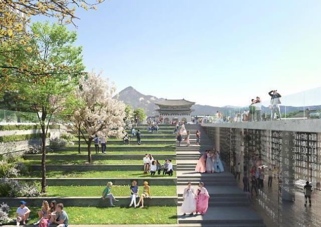 首尔市公开光化门广场改造图 世宗大王像要被搬走了?