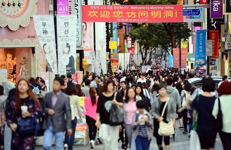 韩国去年接待中日游客最多