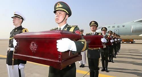 韩中4月交接第六批中国人民志愿军遗骸