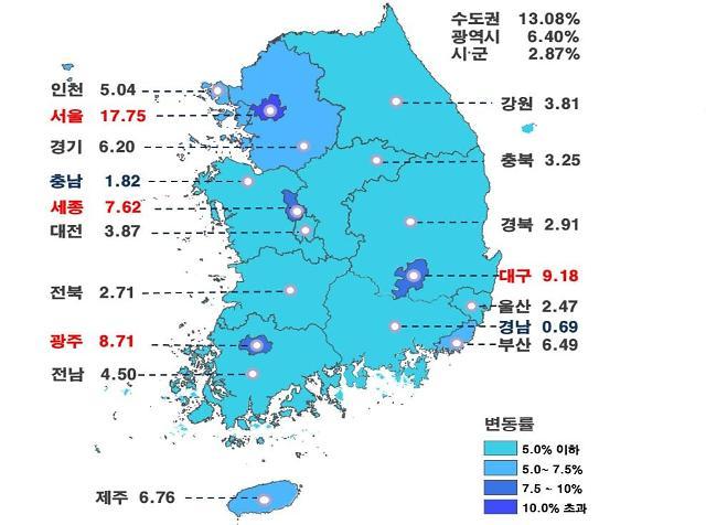 서울 용산·강남구 표준 단독주택 공시가격 35% 올라...보유세폭탄 현실로