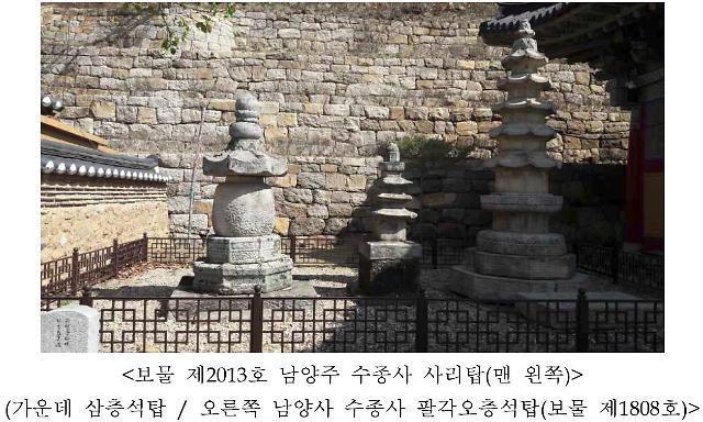 남양주 수종사 사리탑 보물 지정