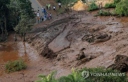 [글로벌포토] 처참한 브라질 댐 붕괴 현장