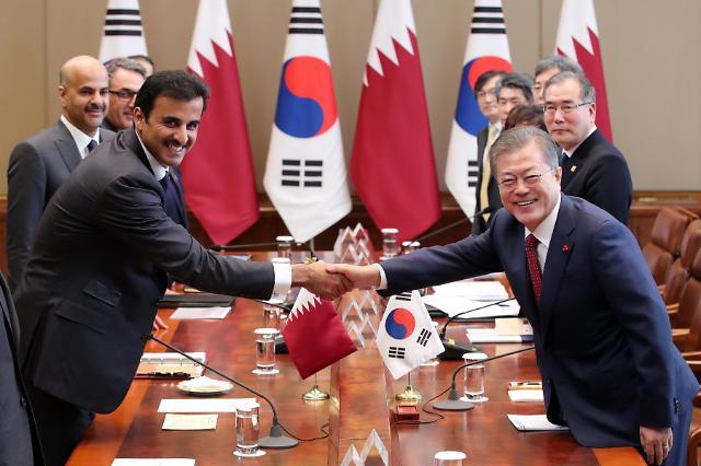 韩国与卡塔尔举行首脑会谈