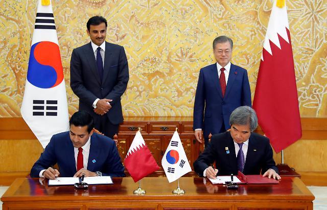 한-카타르 정상회담, 에너지·교통·인프라 분야에 한국 기업 진출 확대