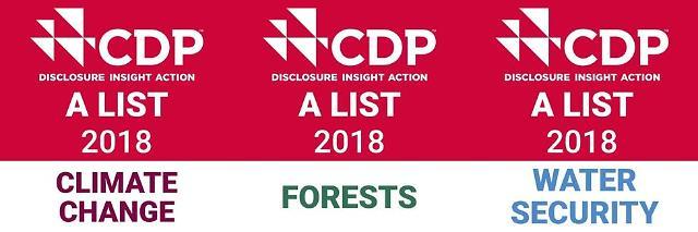 로레알, 환경단체 CDP로부터 3년 연속 A등급