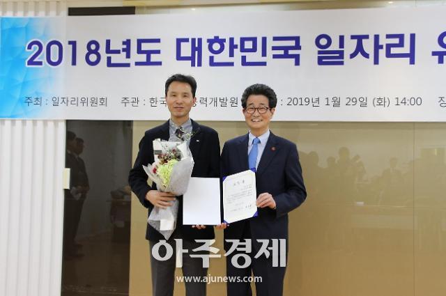 KIAT, 일자리위 주최 2018 대한민국 일자리 유공 기관 선정