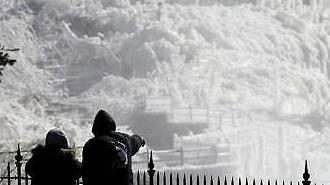 남극보다 더 춥다'..美 살인한파로 8명 사망..호주는 폭염에 몸살