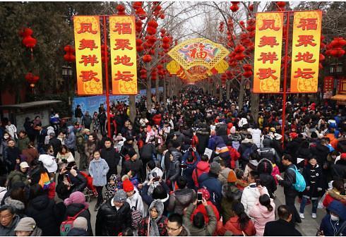[중국포토] 춘제 연휴 만끽…곳곳에 몰린 나들이 인파