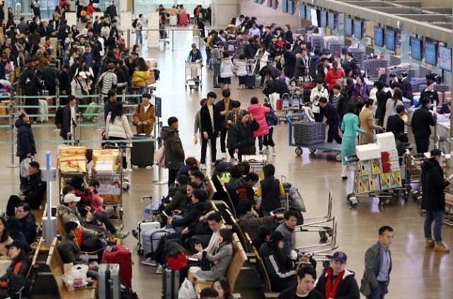 春节期间仁川机场日均运送20余万人 创历年纪录