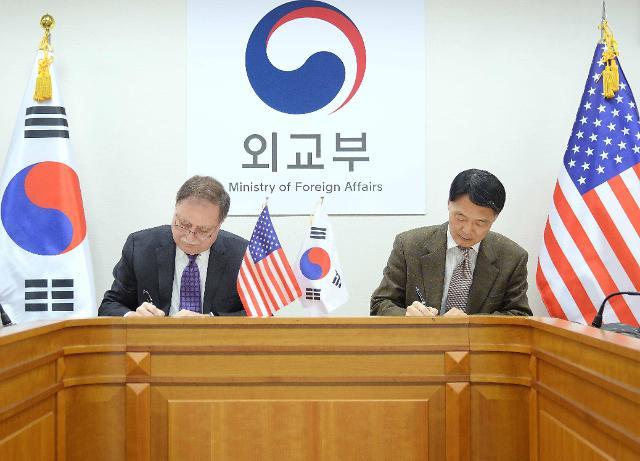 韩美草签防卫费协议 韩方承担额首次超过1万亿韩元