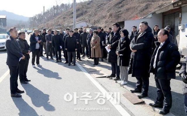 대전시의회 복지환경위원회, 대덕구 용호동 마을 현장 점검 실시