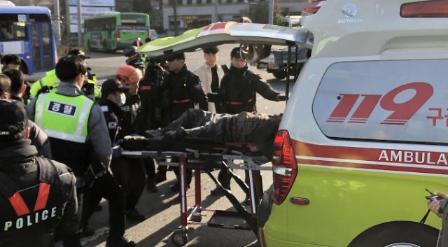 국회 앞 택시기사 카풀 반대 분신…두달 새 3번째
