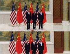 [중국포토] 미·중 무역협상 사진의 정치학