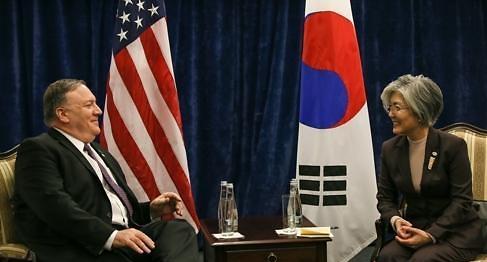 韩美外长会晤商讨第二次金特会事宜