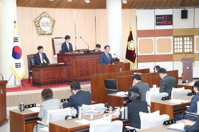 고양시의회, 제229회 임시회 제2차 본회의시정질문