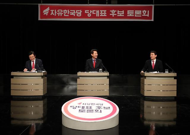한국당 전대 첫 토론회…5·18 망언 논란부터 병역특혜 의혹·탈당 이력 쟁점