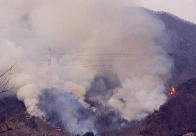"""고령 공장 불, 산불로 확대…""""공장 3곳에서 화재 동시 발생"""""""