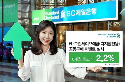 SC제일은행, 디지털 전용 정기예금 특판 실시…6개월 최고 2.2%