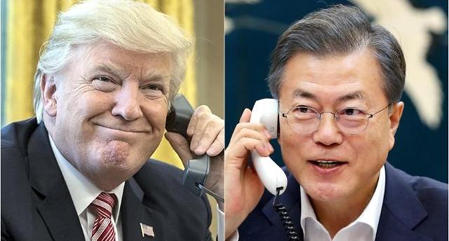 韩美首脑通电话事先磋商金特会策略