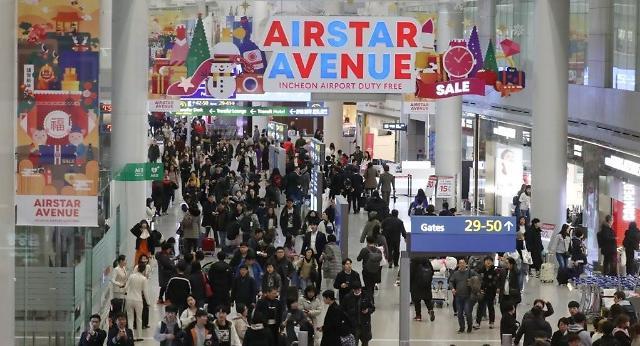 统计:仁川机场国际线客流攀升至全球第五