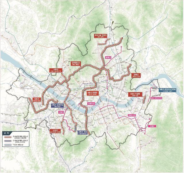 서울시, 면목·난곡·우이신설연장·목동선 등 10개 노선 2028년까지 추진