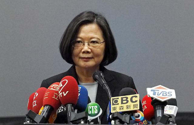 """중국 관영언론 """"대만 차이잉원 2020년 총통선거 출마 맹비난"""""""