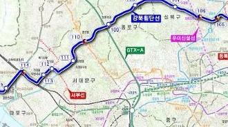 [포토] 목동-청량리 강북횡단선 노선도
