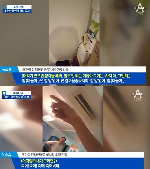 """조현아 폭행영상 공개 """"죽어! 죽어!""""…남편 """"태블릿에 맞아 엄지발가락 살점이..."""""""