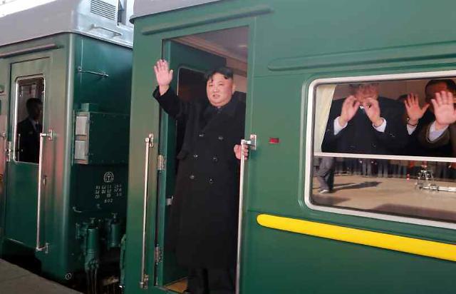 [포토] 김정은 열차타고 하노이行...총 4천500㎞