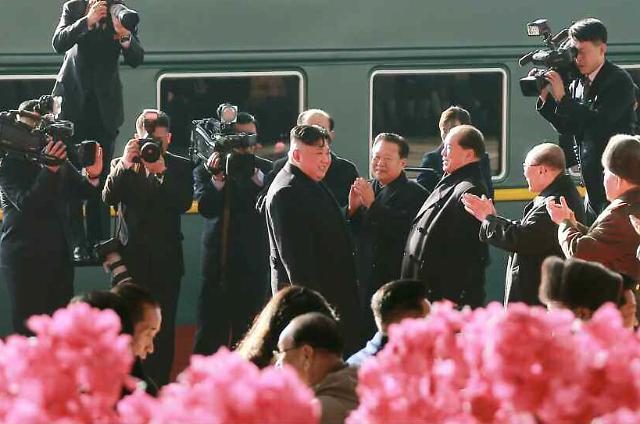 [포토] 열차로 베트남 가는 김정은...60시간 강행군