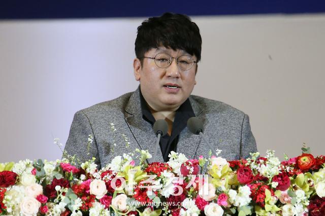 [포토] 방시혁, 모교 서울대학교에서 축사.