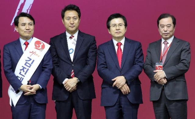[포토] 대표보다 2등이 더 관심, 자유한국당 전당대회