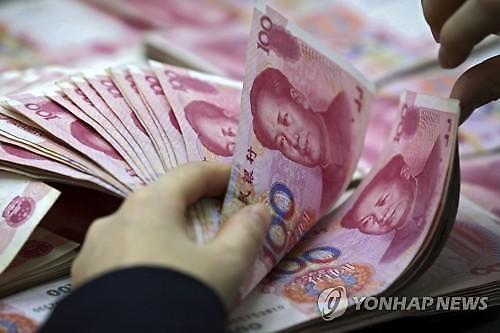 중국 위안화 고시환율(28일) 6.6901위안... 0.07% 가치 하락
