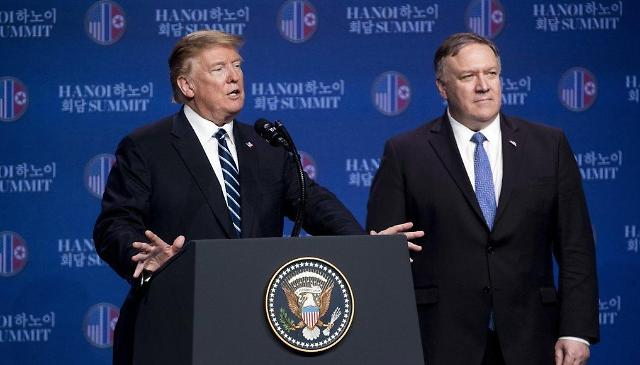 """蓬佩奥反驳朝方主张 称""""朝鲜要求全面解除制裁"""""""