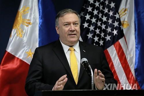 """폼페이오 """"북한, 우리와의 대화 준비 돼있어""""...美언론 """"웜비어 언급 회피"""""""